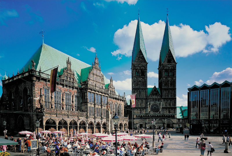 Town Hall and Roland on the Marketplace of Bremen