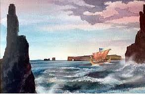 Viking Ship in Russian Waters