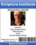 Dr Wesley B Rose