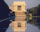 Lincoln Memorial built of 3 basic rocks