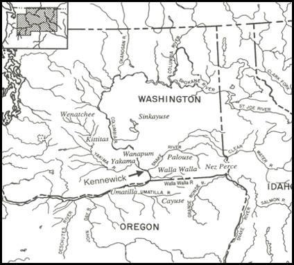 Map of Kennewick Men